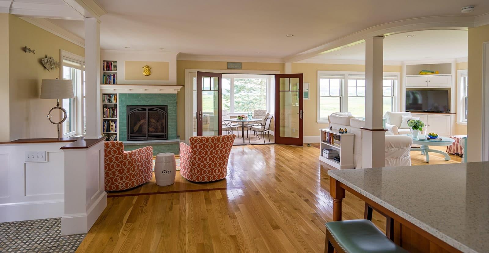 Gloucester MA Beach Cottage Living Room