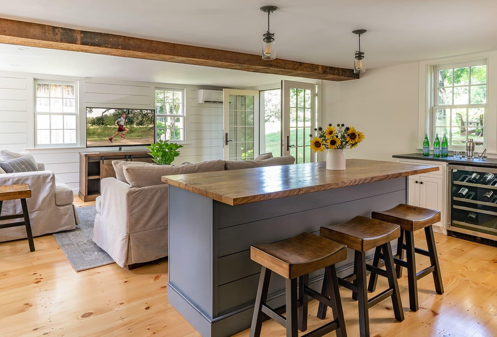 Hidden Farmhouse Wishing Well Historic Topsfield MA Living Room