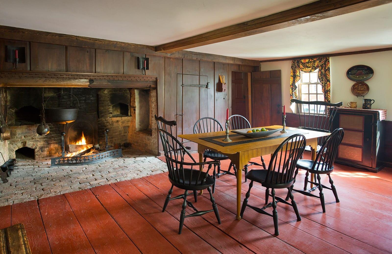 Lummus House Historic Colonial Ipswich MA Dining Room