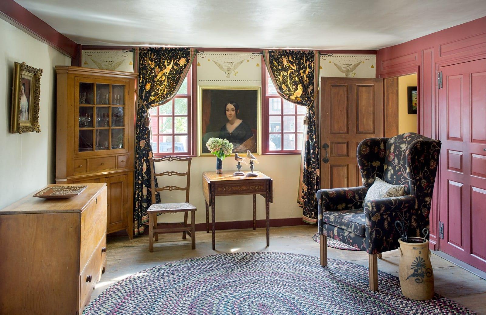 Lummus House Historic Colonial Ipswich MA Living Room
