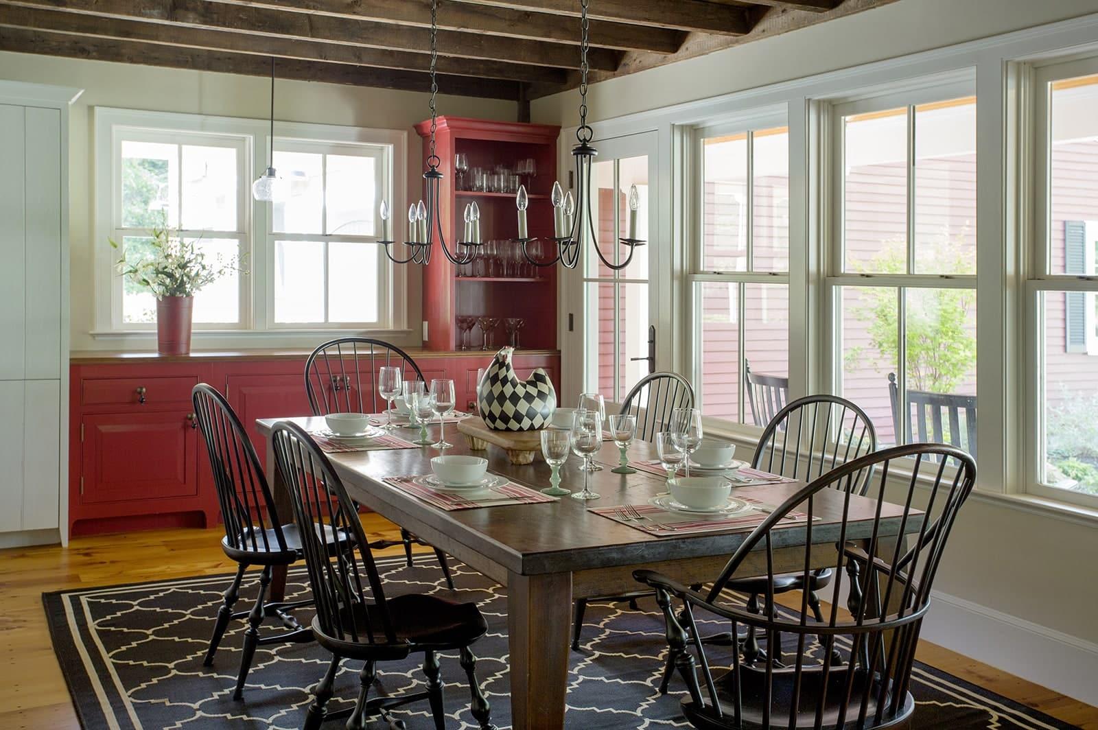 Lynnfield MA Farmhouse Dining Room
