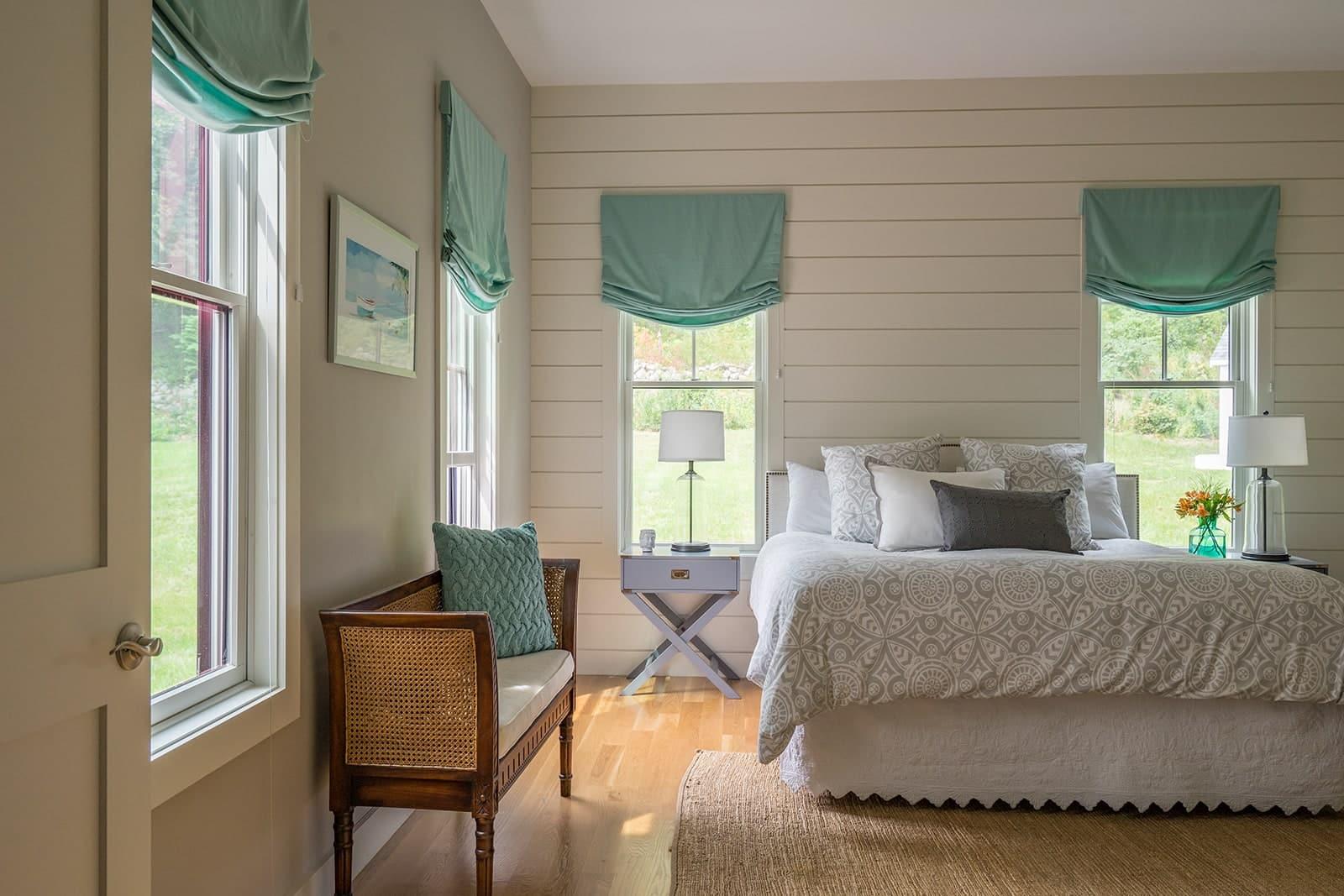 Modern Farmhouse Newbury MA Bedroom