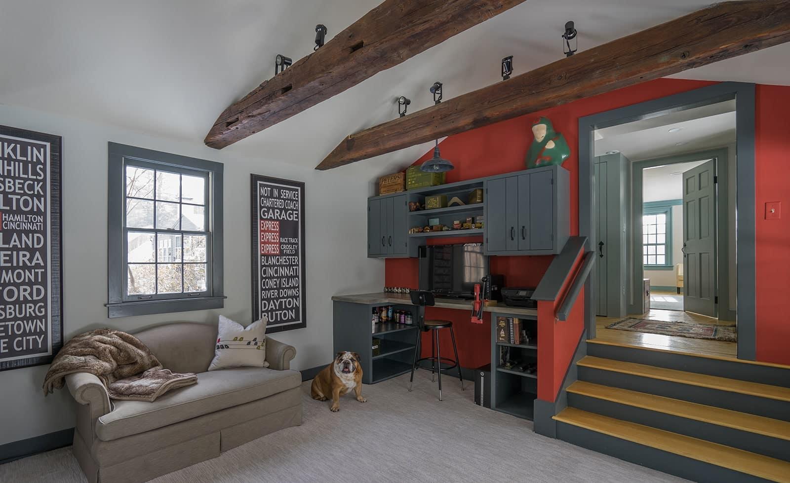 New Hampshire Homestead Historic Interior Living Room