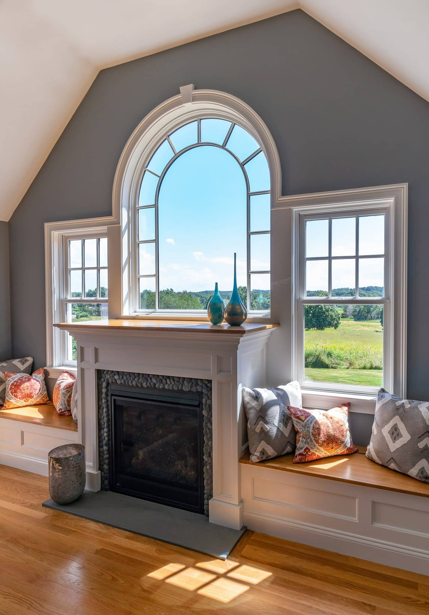 Cape Style Home Interiors Ipswich MA Living Room