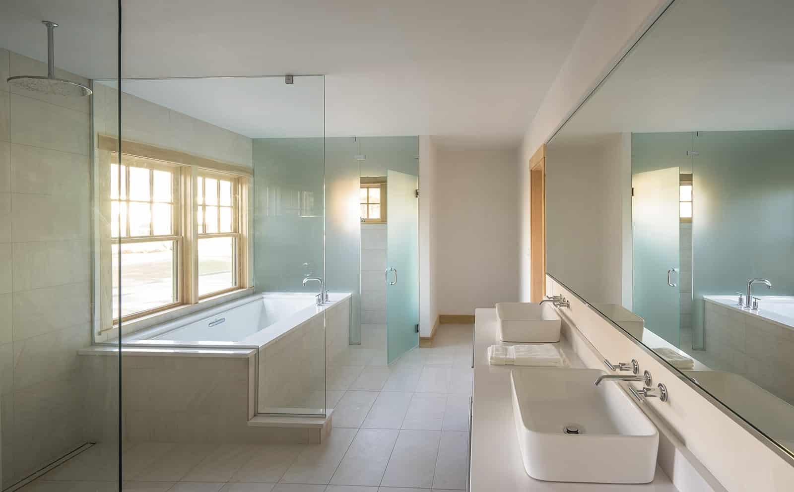 Contemporary Retreat Interiors Ipswich MA Bathroom