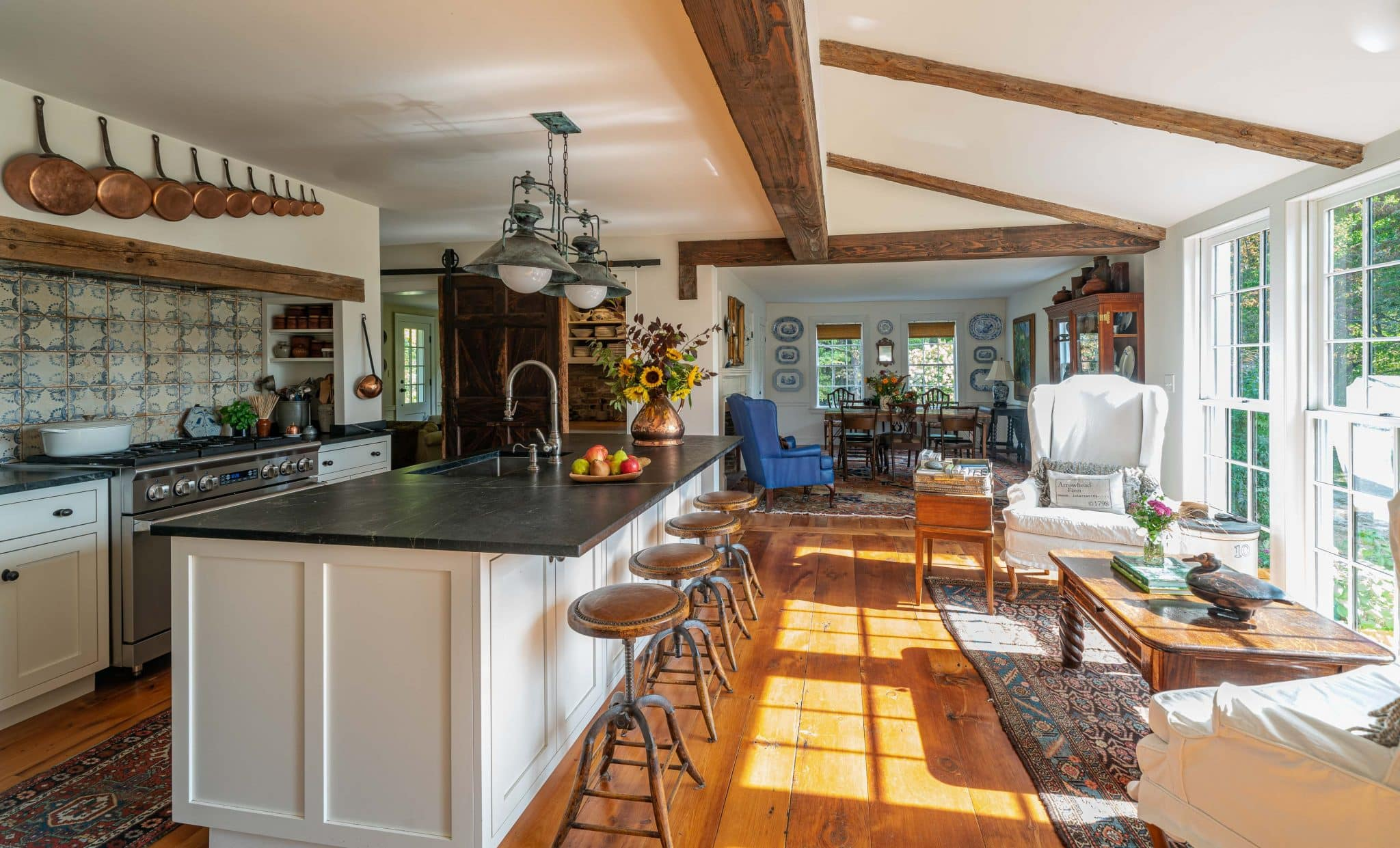 Arrowhead Farmhouse Newburyport MA Kitchen