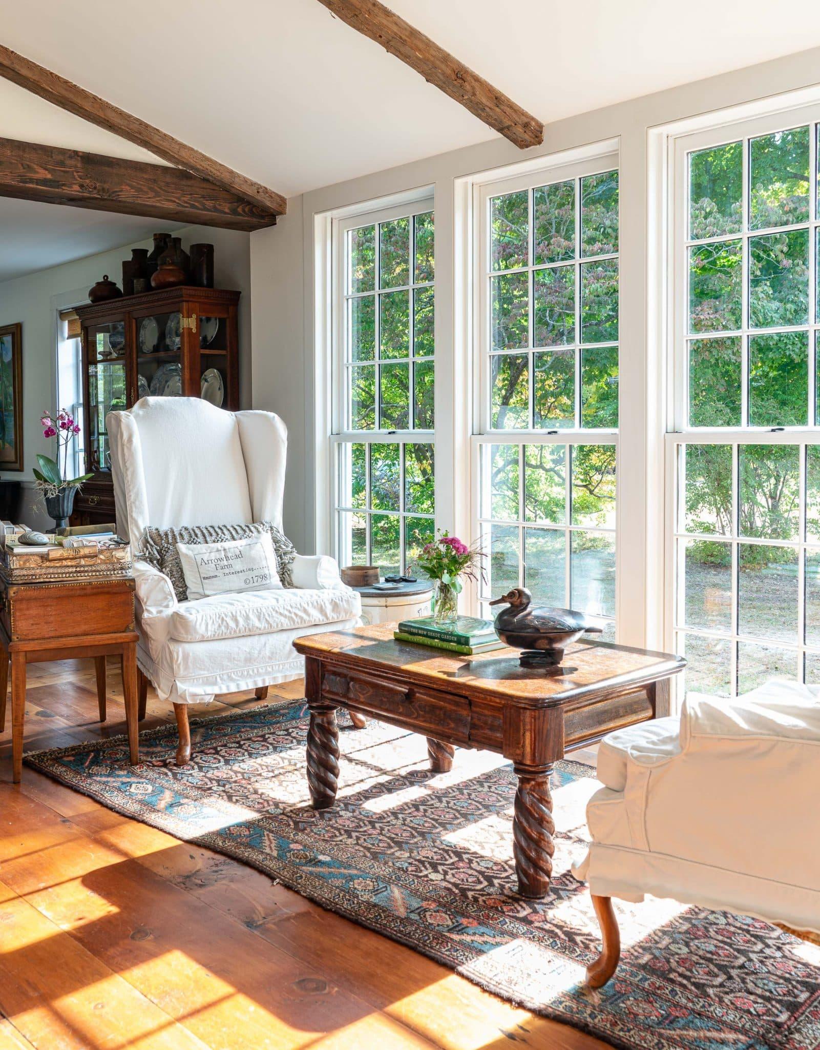 Arrowhead Farmhouse Newburyport MA Sitting Room