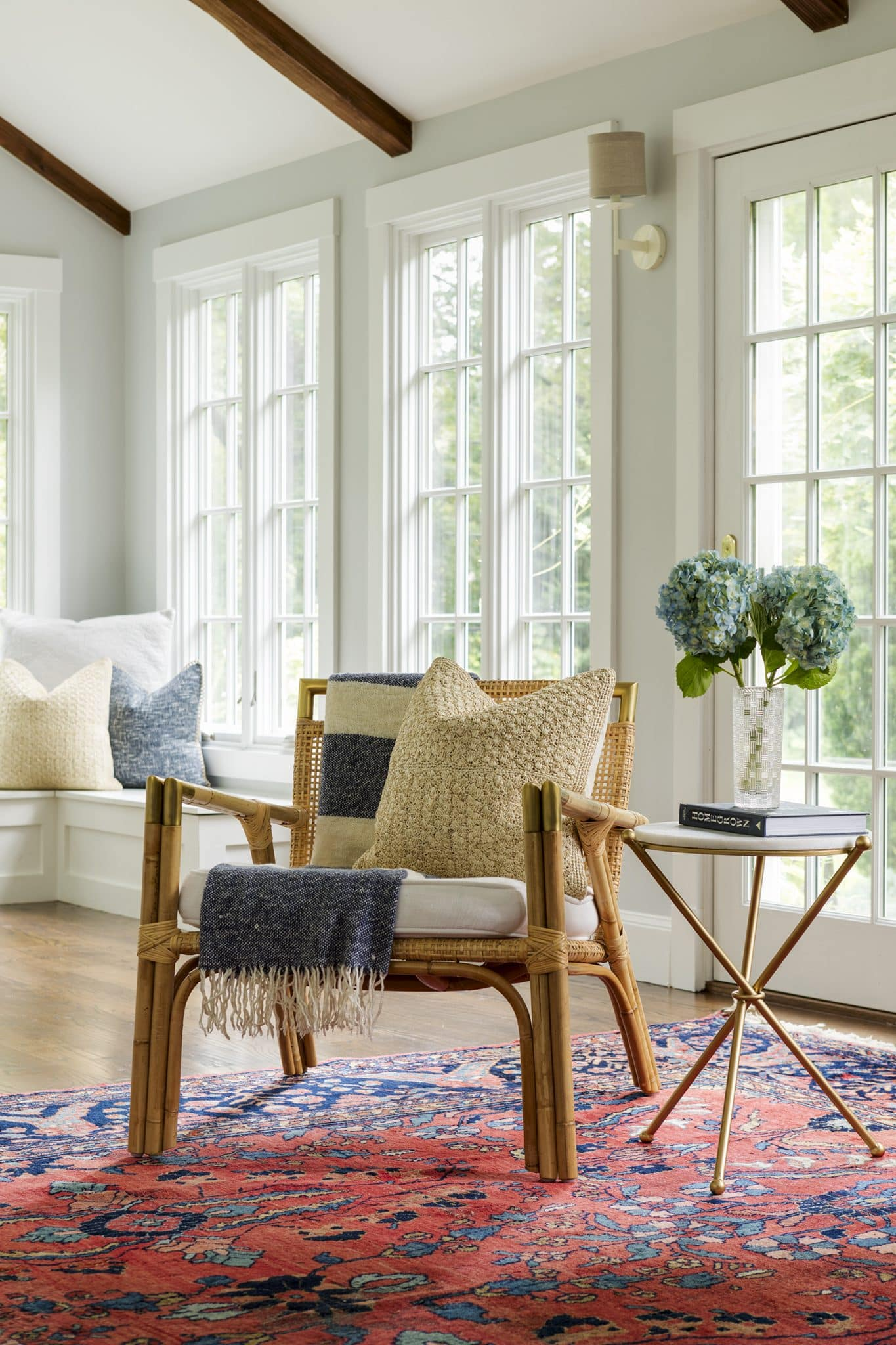 Asian Garden Colonial Hamilton MA Living Room Vignette