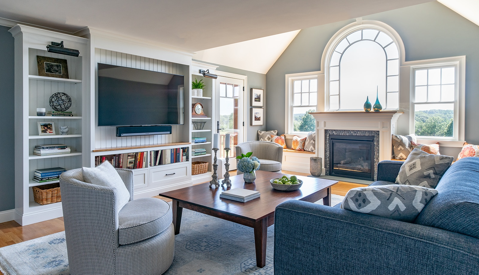 Cape Style Home Interiors Ipswich MA Living Room featured