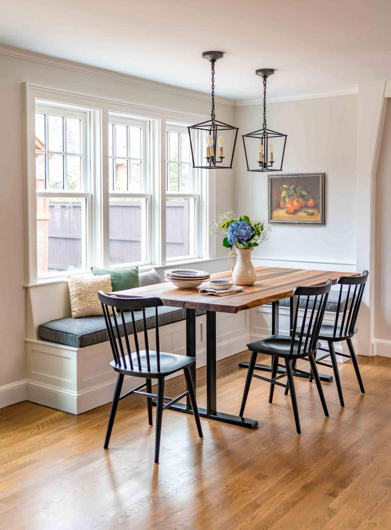 French Flair Winchester MA Breakfast Nook