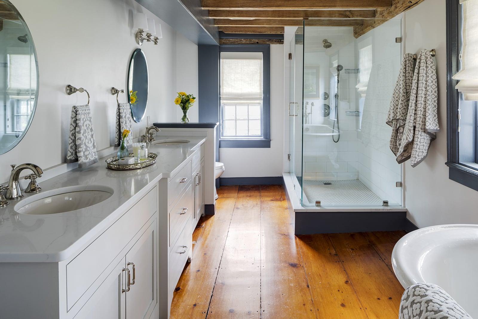 Harraden House Annisquam MA Master Bathroom