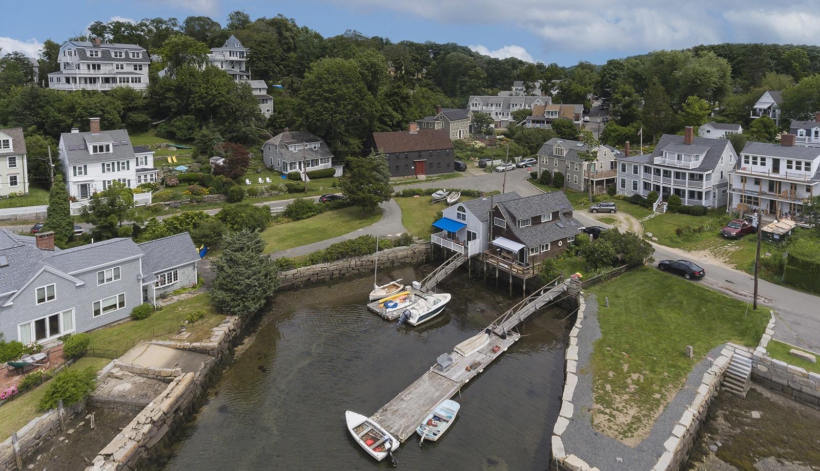 Harreden House Annisquam MA Aerial View Featured
