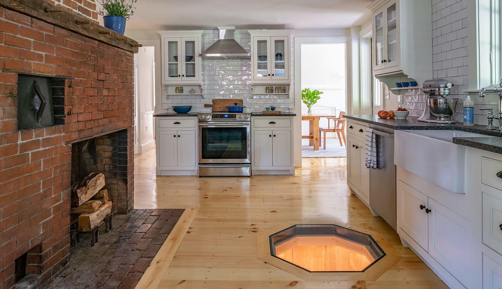 Hidden Farmhouse Wishing Well Historic Topsfield MA Kitchen