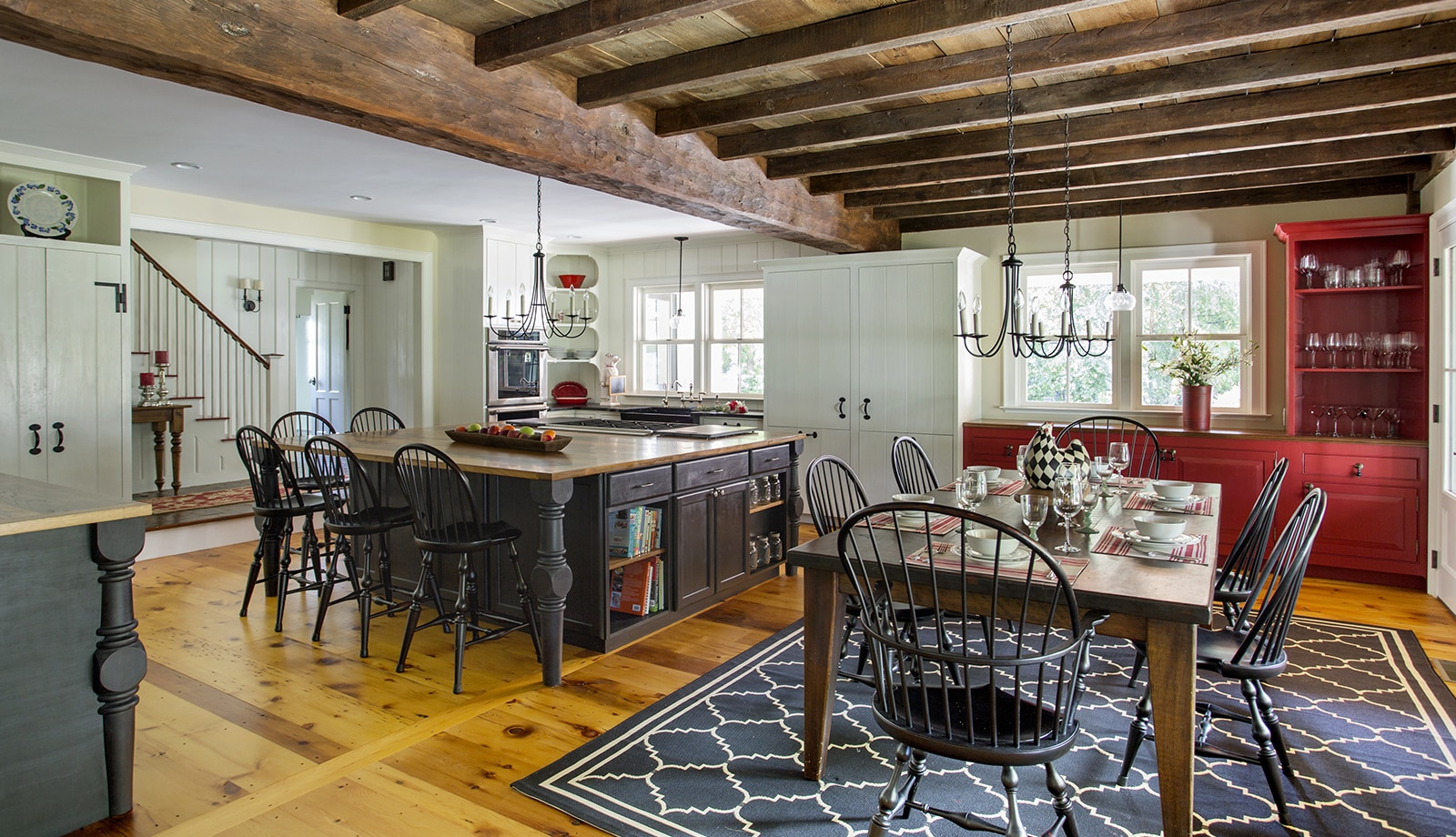 Lynnfield MA Farmhouse Kitchen featured arch