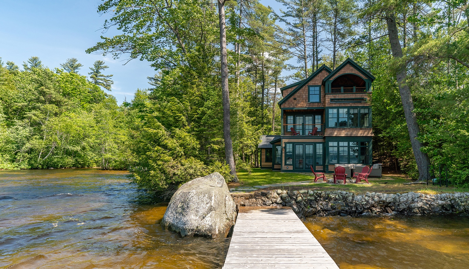 New Hampshire Lake House Exterior